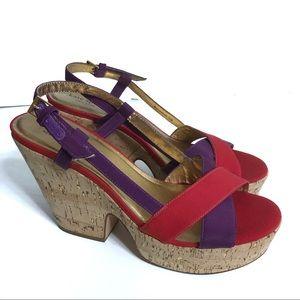Kate Spade wedge Heeled Sandals Size 10